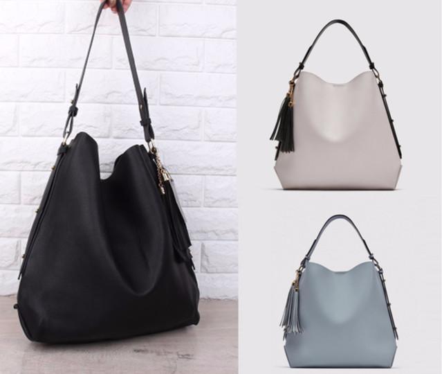 42d264ae1d Jual ZARA PU Leather Bucket Bag with Tassel Detail in 3 Colors ...