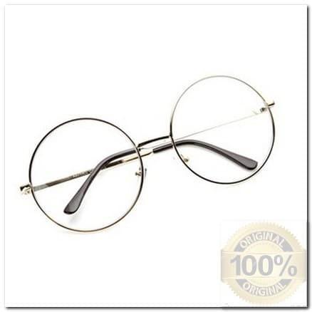 be62155ce47 HM Kacamata Bulat (Design Korea) Pria dan Wanita - Model Vintage (Gold