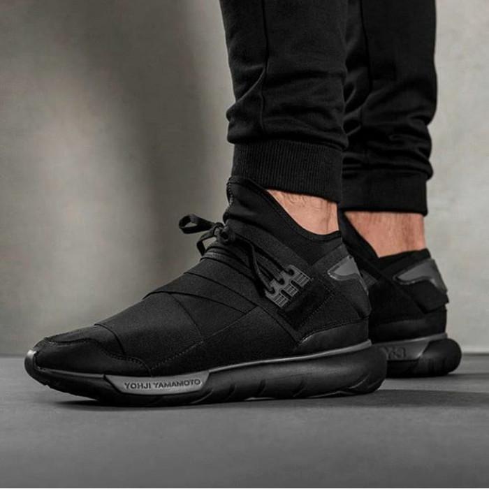 4d339efe10df5 Jual Adidas Y-3 Yohji Yamamoto Qasa High - Triple black - Hitam