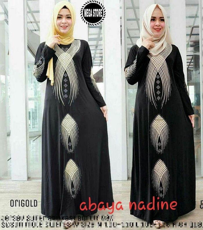 Atasan Wanita Muslim - Abaya Nadine Melanie Dress Muslim - Dzikri ... 08335ec600