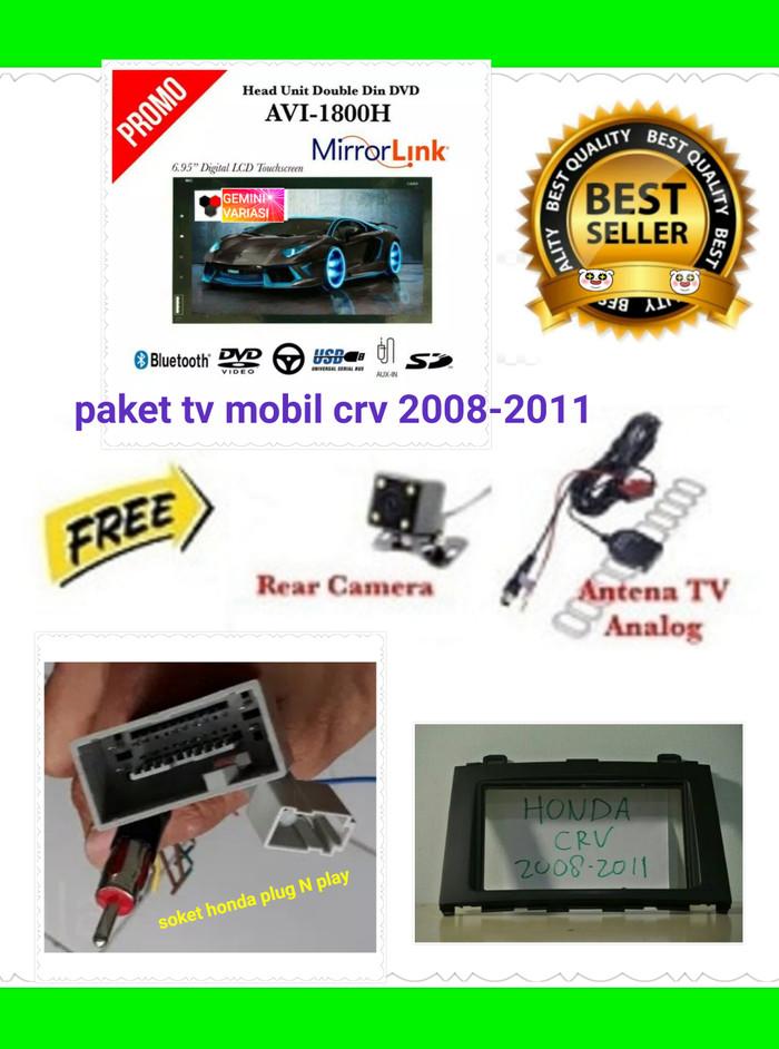 Jual paket tv mobil double din mirror link mobil honda crv 2007-2011 - DKI  Jakarta - gemini variasi | Tokopedia