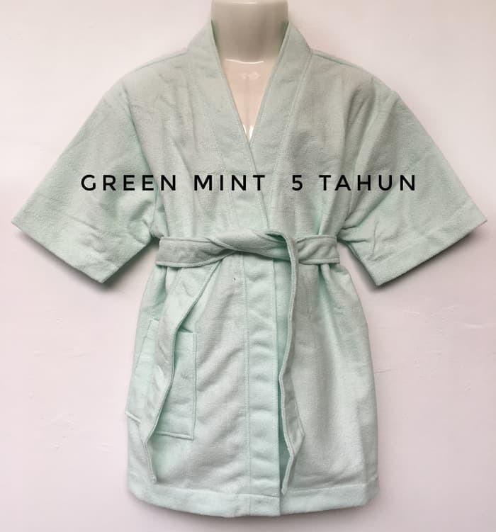Kimono Handuk Anak 5th 6th Jubah Mandi Towel Cewek Cowok Berenang 5y 6