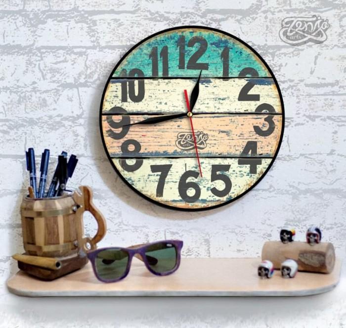Jual jam dinding VINTAGE kayu classic dengan design yang modern 30cm ... a4bd77e44f