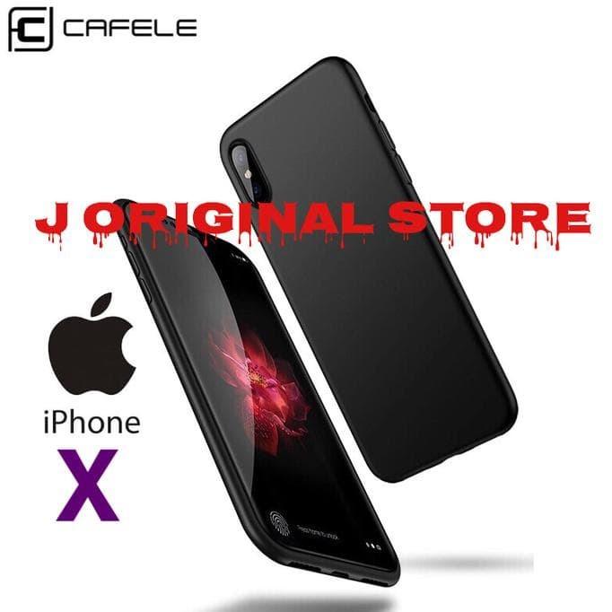 TERLARIS! CAFELE IPHONE X IPHONEX - ULTRATHIN MATTE SOFT CASE ORIGINAL 2