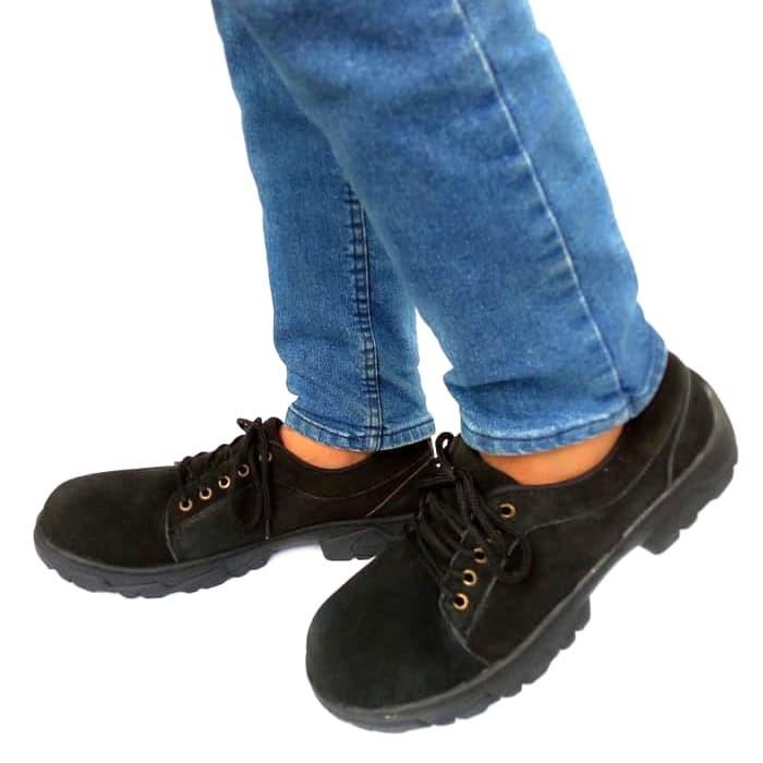 Foto Produk Sepatu Casual Pria kulit asli Rasheda 012 Big Size - Hitam, 44 dari Rasheda Store
