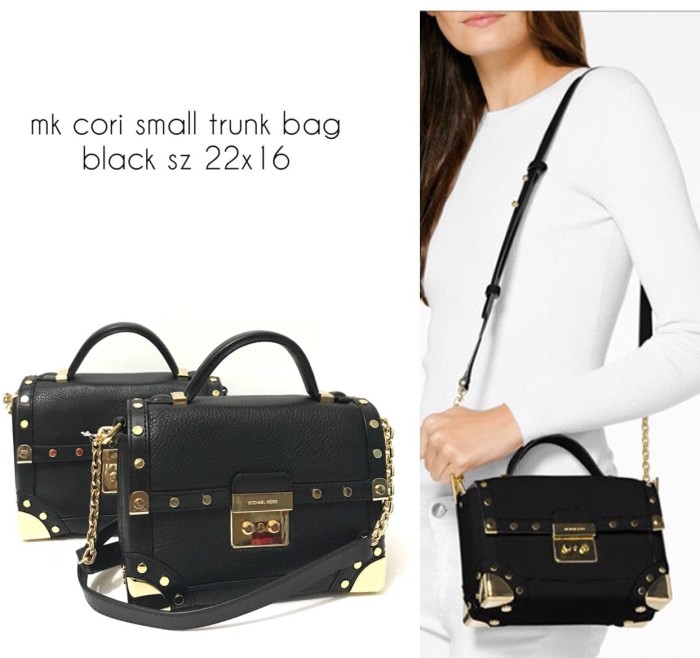 60c555e9e0d3 Jual TAS MICHAEL KORS ORIGINAL - MK SMALL CORI TRUNK BAG BLACK ...
