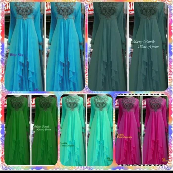 harga Maxy dress/gamis/baju muslim cantik embroidery/bordir ceruty payet Tokopedia.com