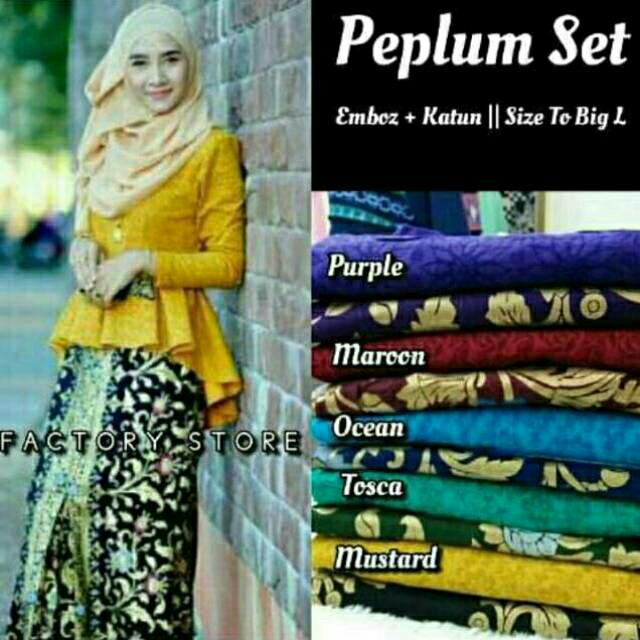 harga Batik kebaya wanita seragam pesta hijab baju muslim kutubaru terbaru Tokopedia.com