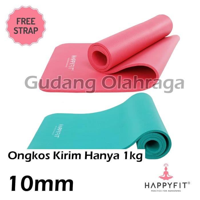 Matras Yoga HAPPYFIT NBR 10mm / Yoga Matt / Matras Senam Tebal 10mm