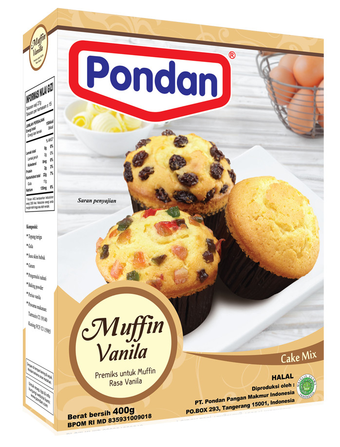Pondan muffin vanilla doos**