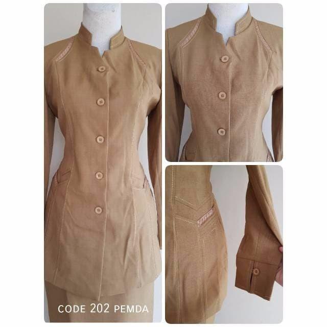 Jual Baju Blazer Pemda Khaki Keki Cewek Dinas Kerja Guru Pns Kelurahan Ke Jakarta Pusat Cabello Tokopedia