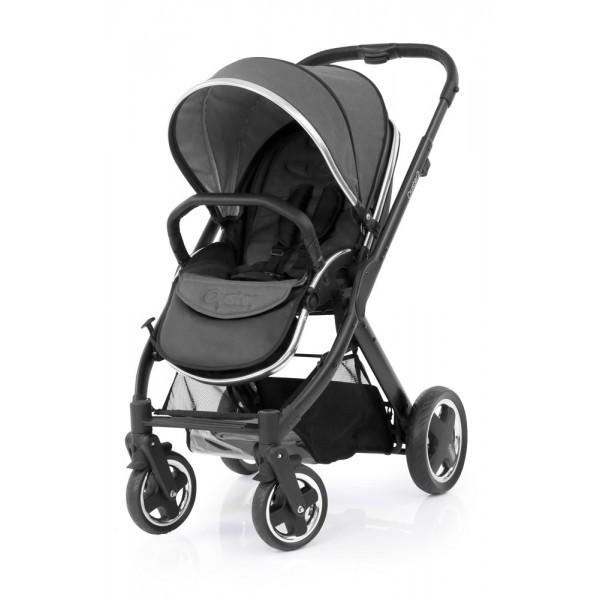 Oyster 2 stroller frame satin black - black tungsten grey (free