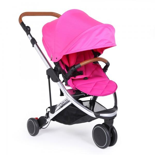 Oyster gem stroller mirror free seat liner dan cup holder - pink