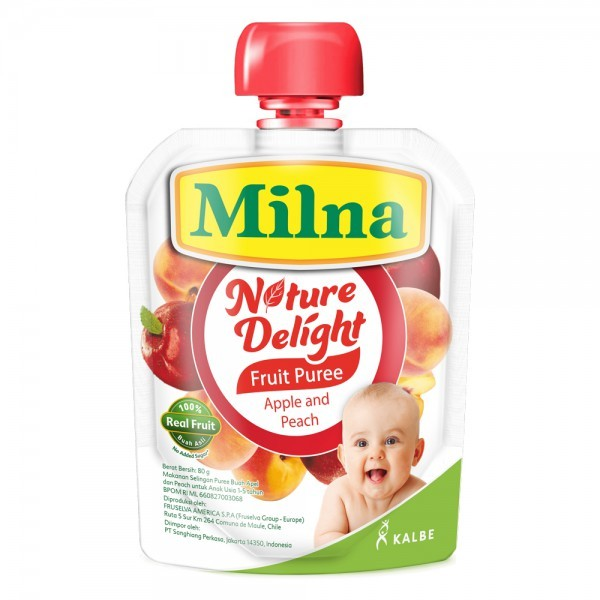 Milna nature delight 80gr - apple & peach