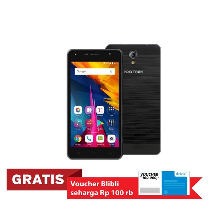 polytron rocket t6 r 2509 smartphone - grey [16 gb/2 gb] - abu -abu tua