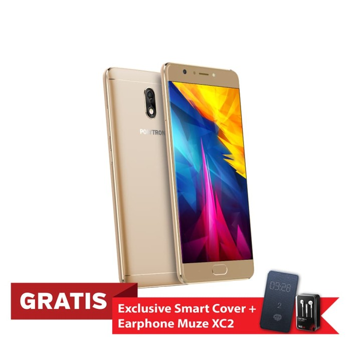 polytron prime 7 pro p552 smartphone - gold [32 gb/ 3 gb] - emas