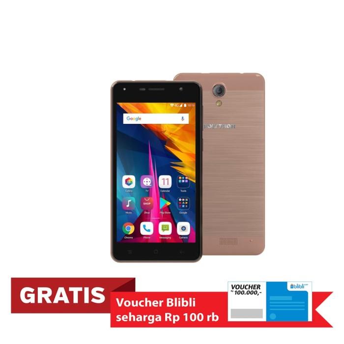 polytron rocket t6 r 2509 smartphone - rose [16 gb/2 gb] - merah muda