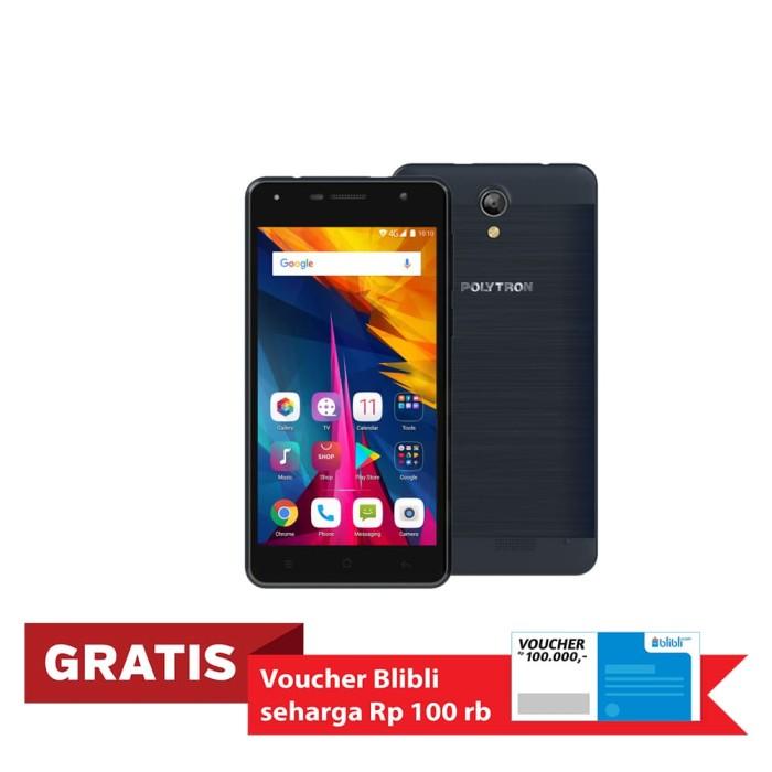 polytron rocket t6 r 2509se smartphone - blue [16gb/ 1gb] - navy
