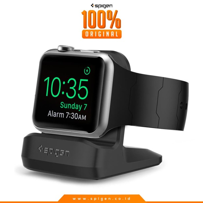 more photos f3beb 120c0 Jual Spigen S350 Apple Watch Night Stand - Black - Unicase Malang |  Tokopedia