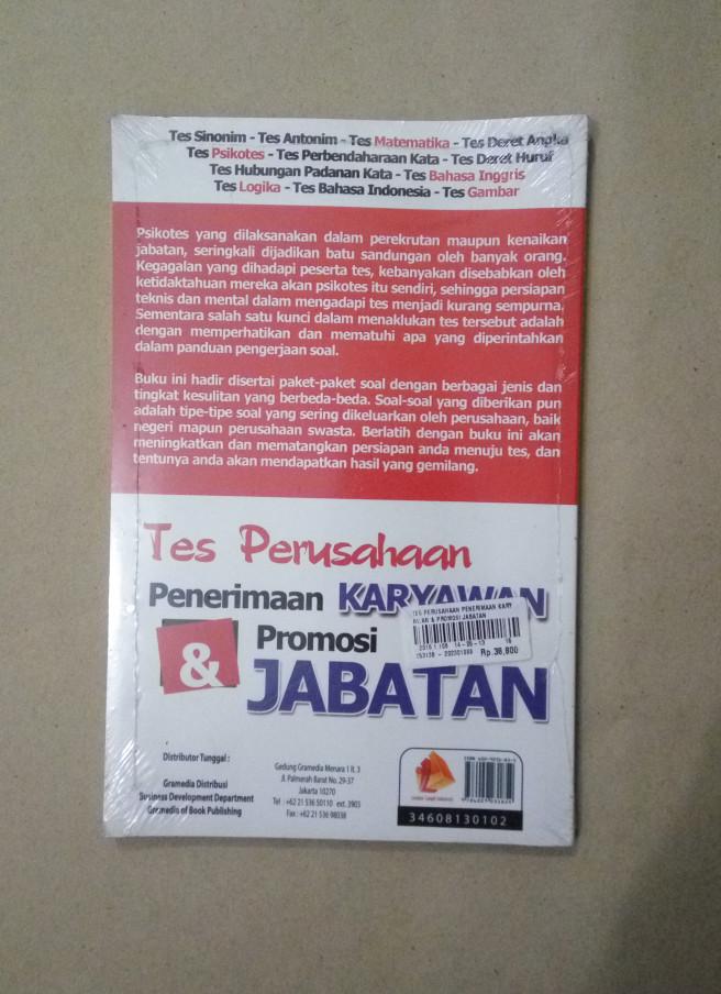 Jual Buku Terbaru 100 Lulus Tes Karyawan Promosi Jabatan Psikotes Jakarta Barat Buku Lapakk Tokopedia