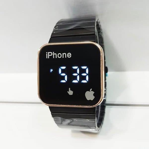 ... Strap Karet Source · Jam Tangan Pria dan Wanita Casual Iphone Led Apple BLACK MAGIC SHOP