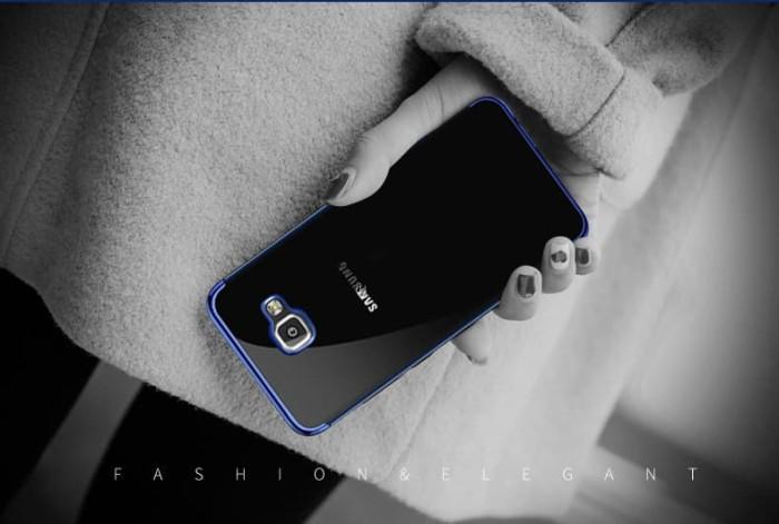 Foto Produk Samsung J7 Prime Shiny Electro Plating Clear Chrome Soft Case 1014 - Merah dari Smart in case