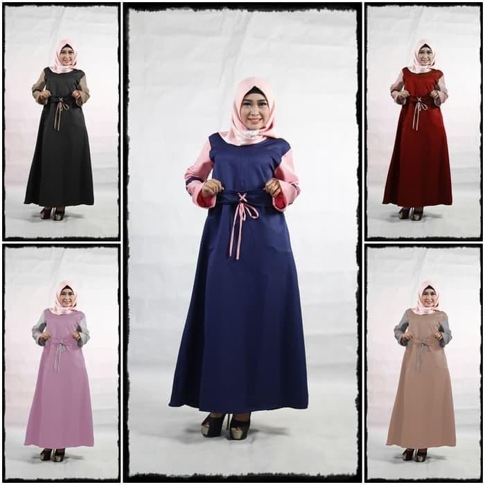 Jual Baju Gamis Wanita Terbaru Marbella Gamis Syar I Murah Merah