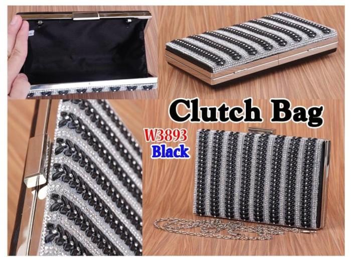 Terlaris Tas Pesta Clutch Bag Gaya Manik Fashion W3893 3893 Semi Prem