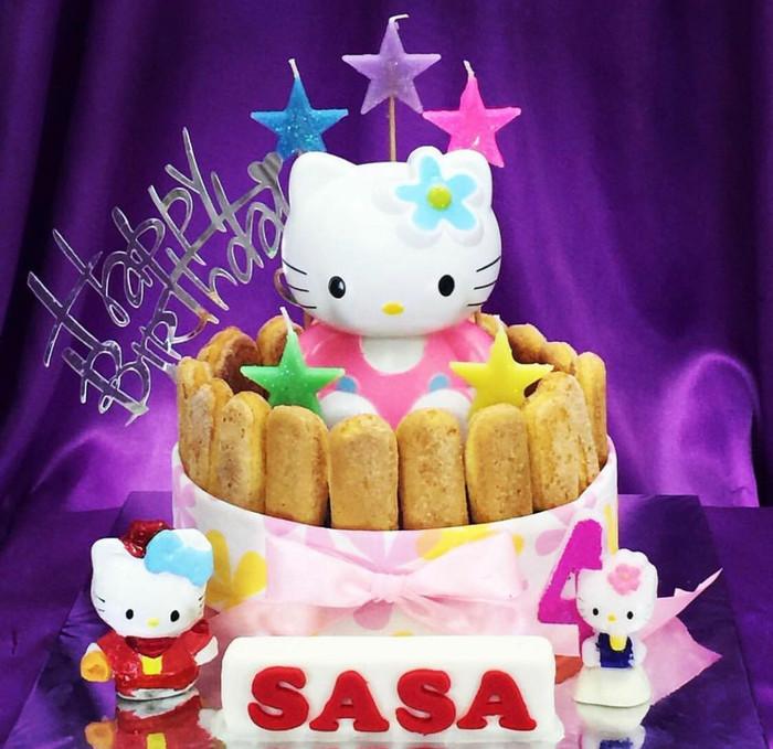 Jual Kue Ulang Tahun Hello Kitty Hk01 Coklat Jakarta Barat Mydcake Tokopedia