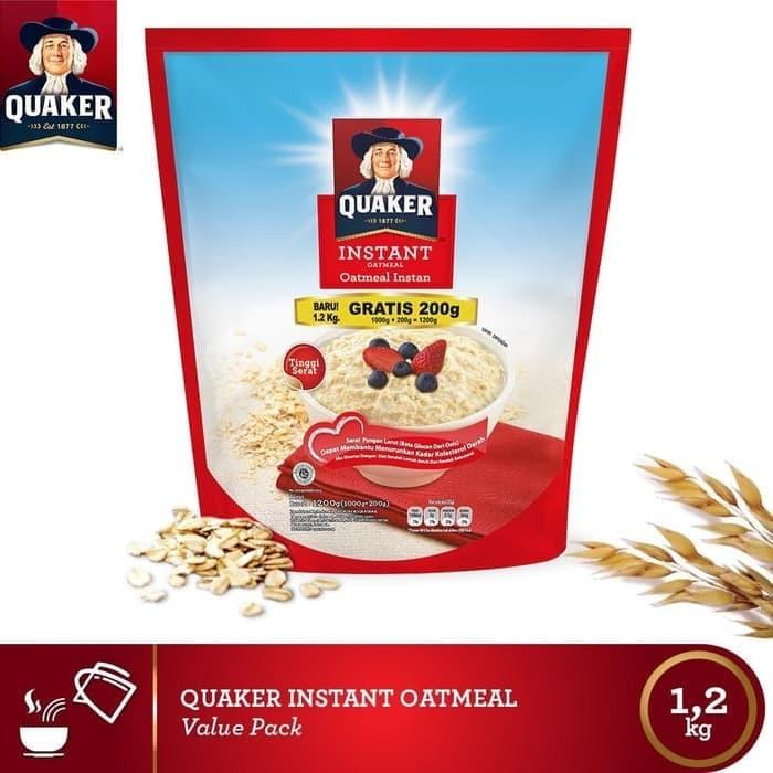 Quaker Instant 1.2 Kg/1200 g Oatmeal Instan Kemasan Baru