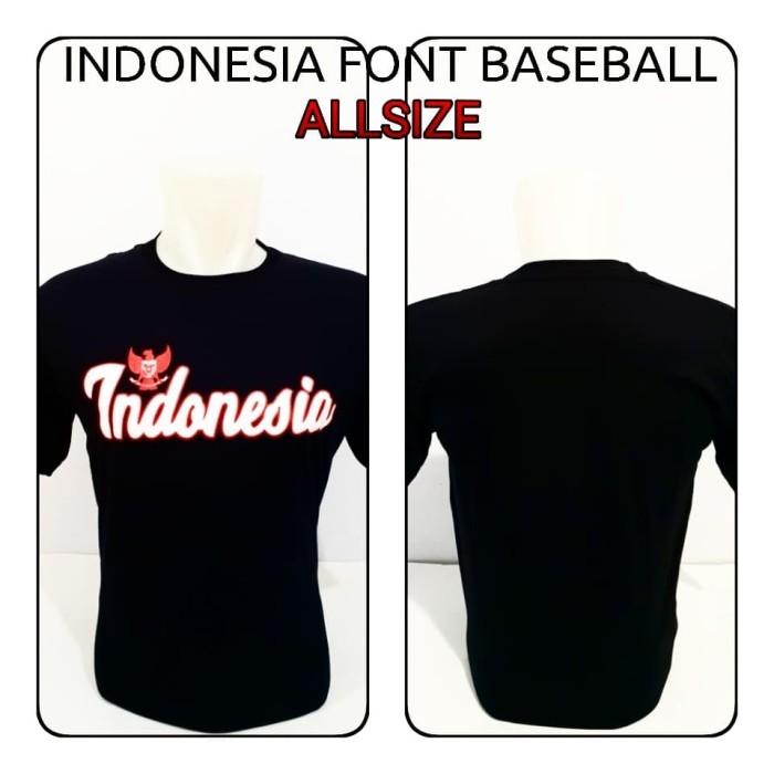 harga Termurah kaos pria indonesia font baseball baju distro joelee Tokopedia.com