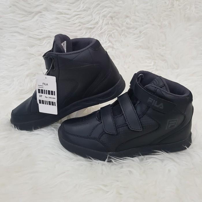 ... harga Fila darren black ch grey 35-38 sepatu sekolah anak remaja dewasa  kets Tokopedia 711a8a090a