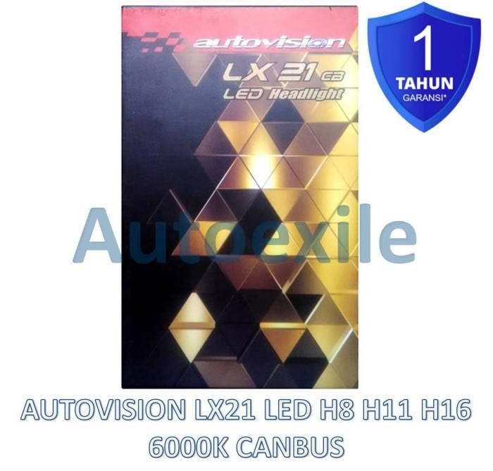 harga Autovision lx21 cb led h8 h11 h16 21w 6000k putih luxeon z lampu mobil Tokopedia.com