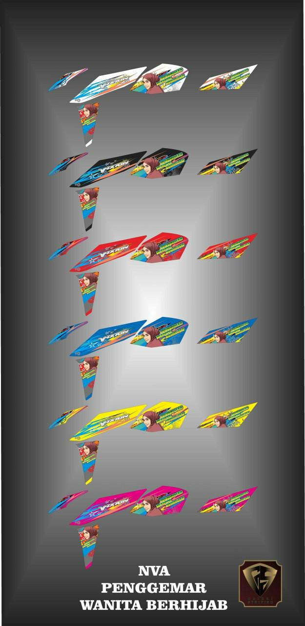 Jual Stiker Striping List Motor New Vixion Advance Wanita Hijab Kab Blora Stiker Motor Variasi
