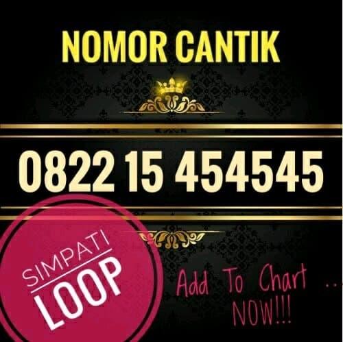 Telkomsel Simpati Nomor Cantik 0822 1000 4007 Daftar Update Harga Source · Nomor Cantik SIMPATI loop 4G lte 0822 15 454545