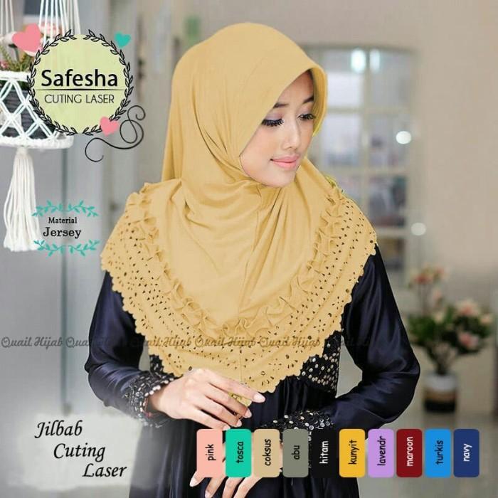 Jual Tasya Jersy Cutting Laser Hijab Termurah Kerudung Jilbab Bergo Kota Bandung Al Rasyid Hifashion Tokopedia