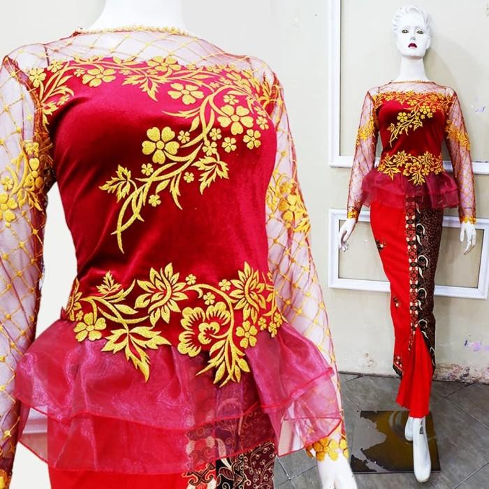 Jual Set Kebaya Wisuda Pagar Ayu Modern Baju Pesta Glamour Kota Surakarta Tokokebaya Tokopedia