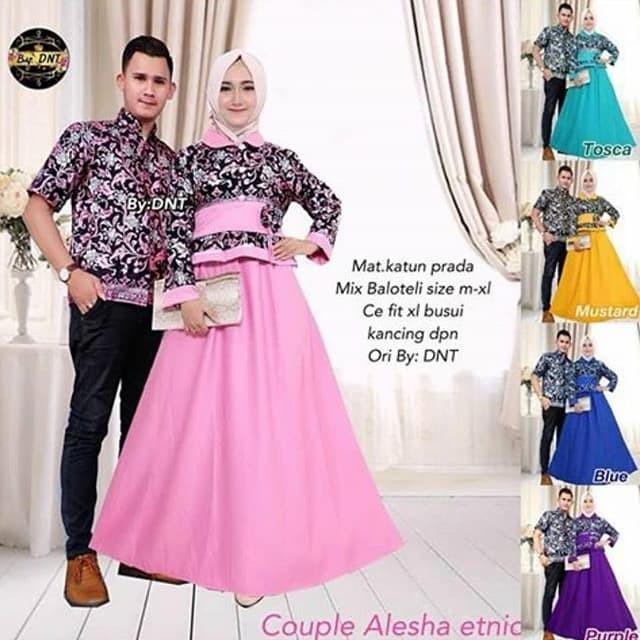 65 Gambar Baju Batik Couple Kekinian