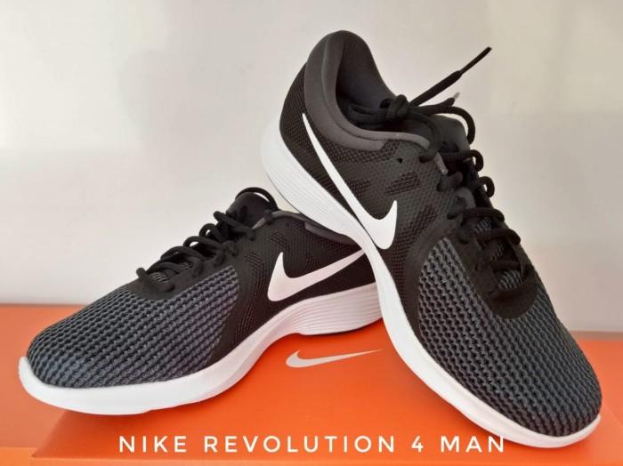 harga Sepatu Lari/running Shoes Nike Revolution 4 Black 908988 - 001 Original Blanja.com