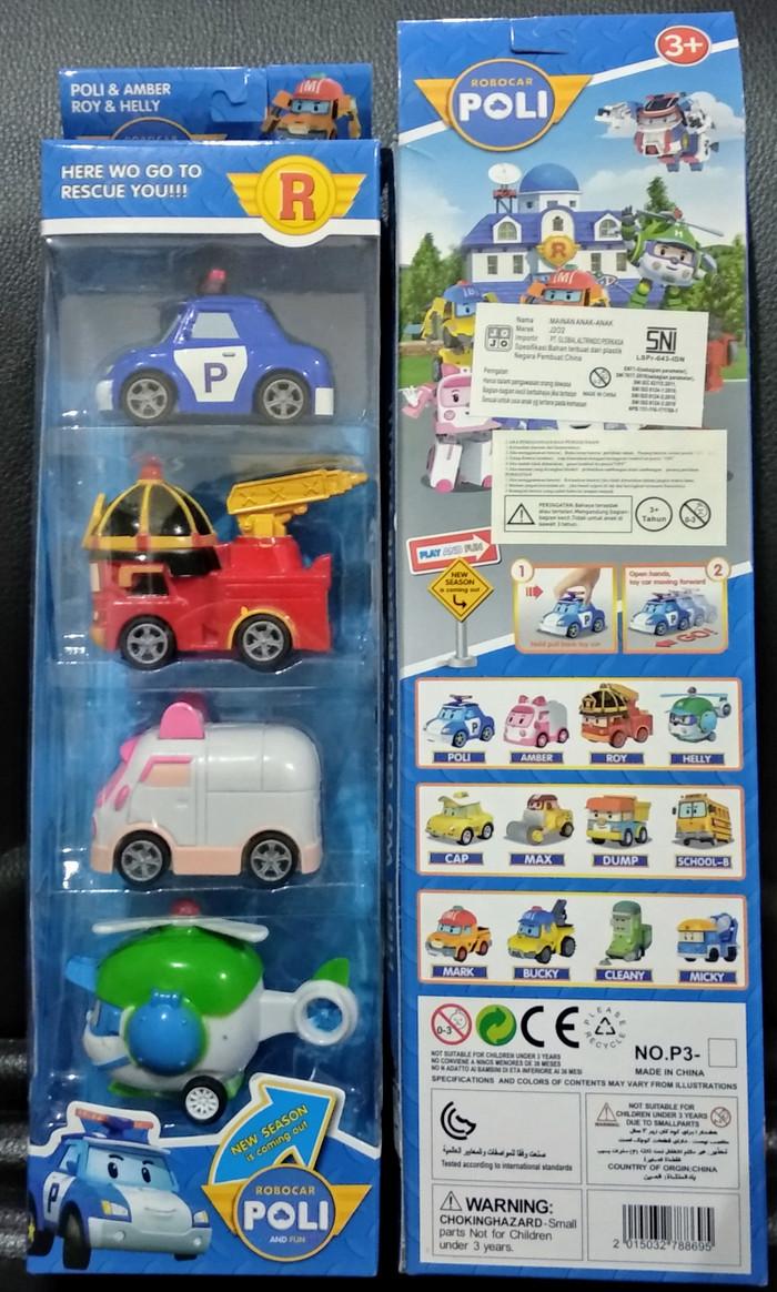 Jual Mainan Robocar Poli P3 Set Isi 4 Dus Anak Murah 1