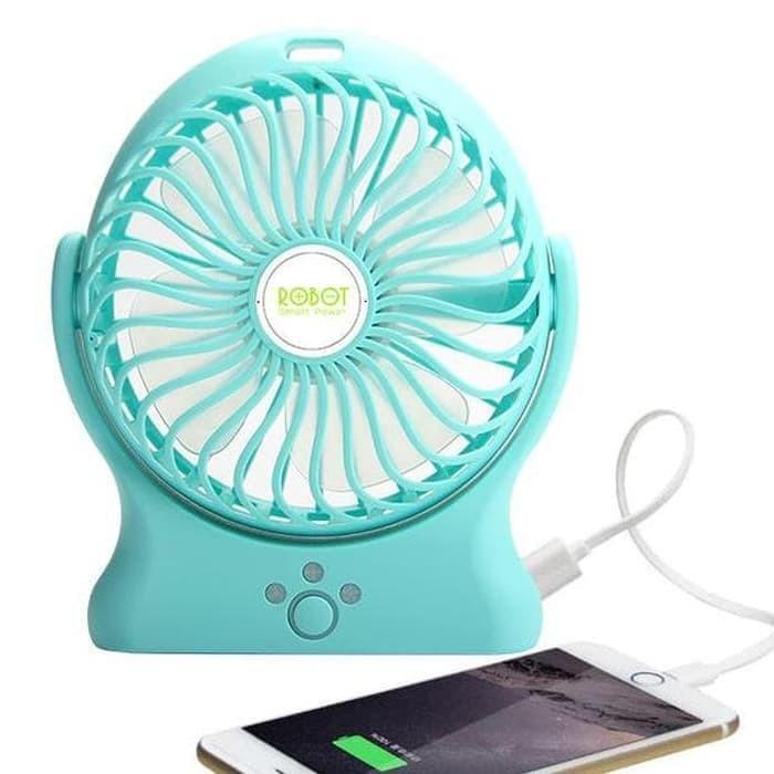 Twelven Kipas Angin Power Bank / Portable Mini Fan 3 Speed + Kabel Charger - Hitam. Source · harga Vivan Robot Kipas Mini Power Bank Rt - Bf03 2200 Mah ...