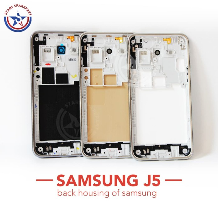 Housing Samsung Galaxy J5 / J5 2015 / J500 Cassing Kesing Fullset - Putih