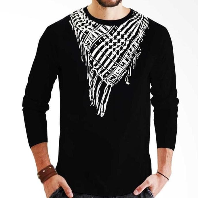 New Promo Sorban Long Black Kaos Distro Muslim Pria