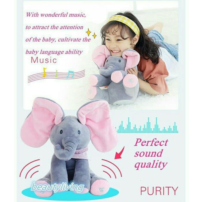 Foto Produk boneka pee a boo boneka musik gajah music elephant dari tokochio
