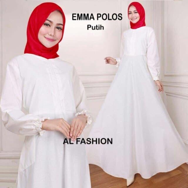 Jual Baju Gamis Wanita Dress Gamis Emma Polos Ukuran Jumbo Busui