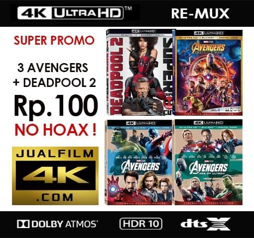 Jual Film 4K HDR Blu-ray Remux Rp  100 (Promo bonus pembelian minimal 2 TB)  - Jakarta Barat - jualfilm4kcom | Tokopedia