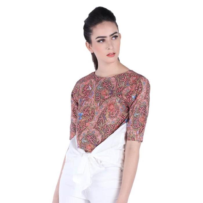 blouse baju batik wanita rianty batik blous meisie-size m