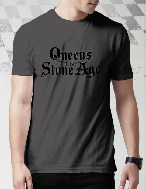 Queens of the Stone Age T-Shirt Pria Hitam
