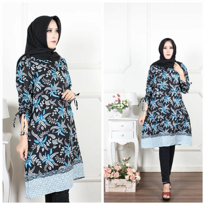Jual Baju Tunik Batik Wanita Atasan Modern Dress Batik Kota Pekalongan Batik Halona Tokopedia