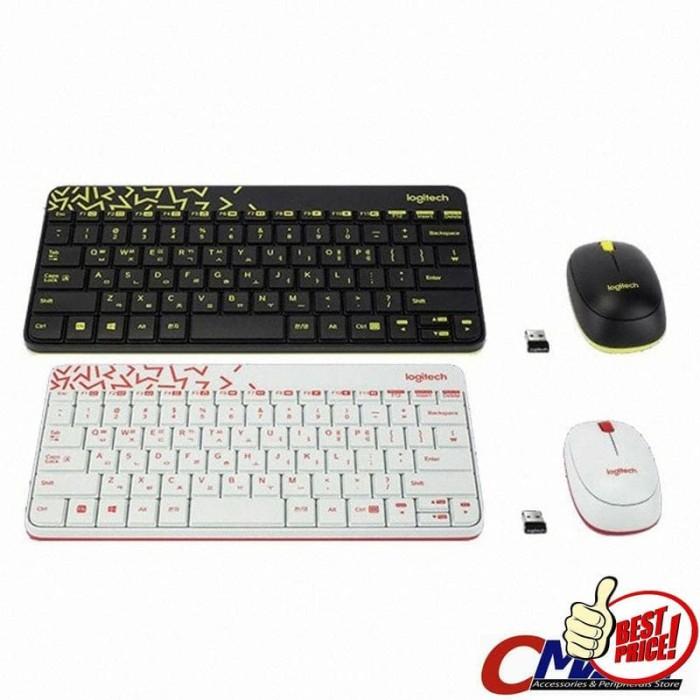 b04f9028bdb Jual Logitech MK240 NANO Colorful Wireless Combo Mouse & Keyboard ...